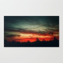 spidery red sky Canvas Print