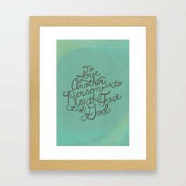 To Love Another... Framed Art Print