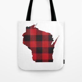 Wisconsin Plaid Flannel Tote Bag