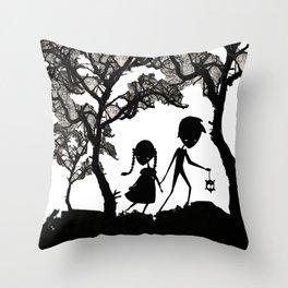 Hansel and Gretel Throw Pillow