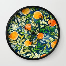 Blue Citrus Wall Clock