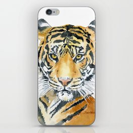 Tiger Watercolor Painting iPhone Skin