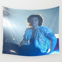 harry styles Wall Tapestries featuring Harry Styles by Halle