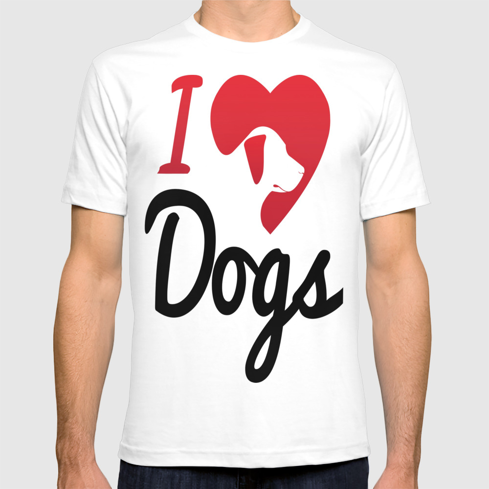 I Love Dogs... Tee by Luongthihued TSR7688072