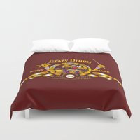 drums Duvet Covers featuring Crazy Drums by ikado