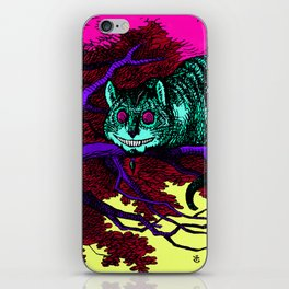 The glowing Cheshire Cat iPhone Skin