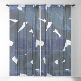 Botanical Purple Rain Sheer Curtain