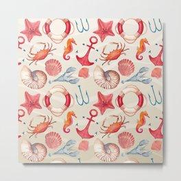 Marine Pattern 04 Metal Print