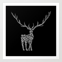 White Prongs Art Print