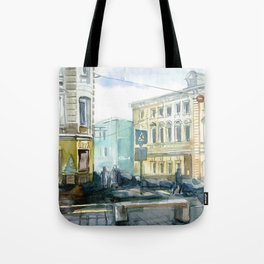Watercolor Moscow Tote Bag