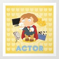 actor Art Prints featuring Actor by Alapapaju
