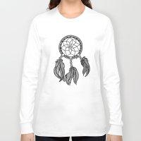 dreamcatcher Long Sleeve T-shirts featuring Dreamcatcher by Julie Erin Designs