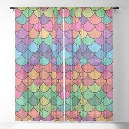 Watercolor Lovely Pattern VVXVII Sheer Curtain