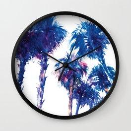 Blue Palms Wall Clock