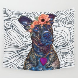 Lola The Pit Bull Wall Tapestry
