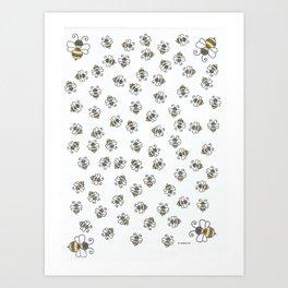 buzzy bees Art Print
