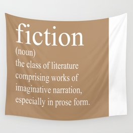 Fiction Definition (White on Tan) Wall Tapestry