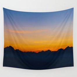 Wispy Mountain Glow Wall Tapestry
