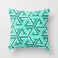 lv Throw Pillows featuring Geometrix LV by Warwick Wonder Works