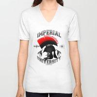 skyrim V-neck T-shirts featuring Imperial University(Skyrim) by Chubbybuddhist
