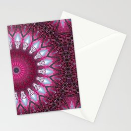 Kaleidoscope pink colors. Stationery Cards