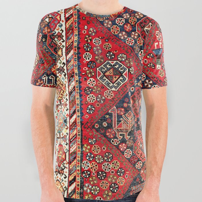 Qashqa'i Fars Southwest Persian Nomad Rug Print All Over Graphic Tee