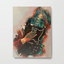 Angus Young's Guitar Metal Print