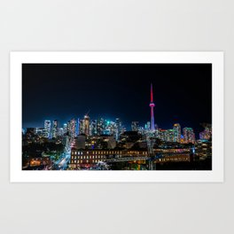 Vibrant Toronto Art Print