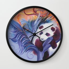 Panda's Dayddream Wall Clock