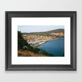 Anacortes Island Marina on Burrows Bay Framed Art Print