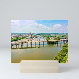 Bridges over the James Mini Art Print