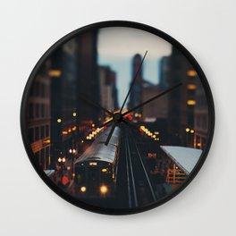 Chicago South Loop photograph Wall Clock
