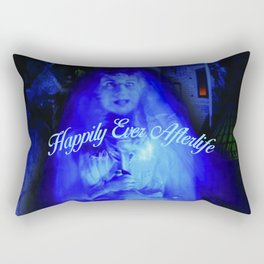 Constance the Ghostly Black Widow Bride in the Attic Rectangular Pillow