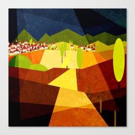 Golden landscape 2021 Canvas Print