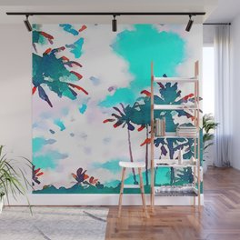 Lanikai Coconut Trees Wall Mural