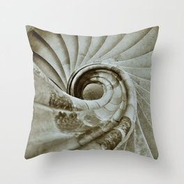 Sand stone spiral staircase 10 Throw Pillow