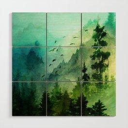 Mountain Morning Wood Wall Art