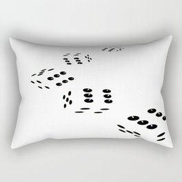 Tumbling Dice Chain White Rectangular Pillow