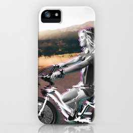Glitching the ride iPhone Case