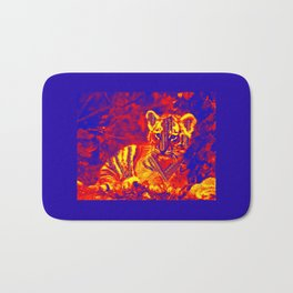 Aztec lion cub Bath Mat