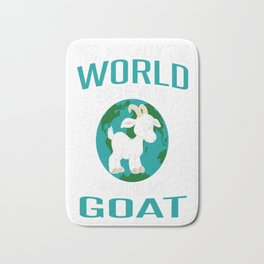 World-Does-Revolve-Around-My-Goat Bath Mat