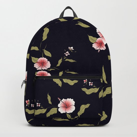 Pink Tropical Flowers #society6 #decor #buyart Backpack