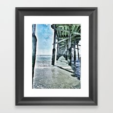 Newport Beach Pier Framed Art Print