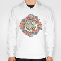 zentangle Hoodies featuring bengal mandala by Laura Graves
