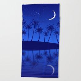 Blue Island Starry Sky Beach Towel