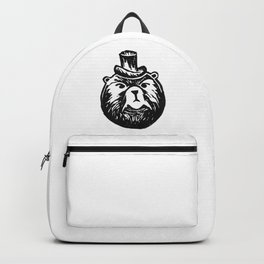 Grumpy Bear with a Top Hat Backpack