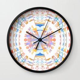 Rainbow Earth Souls Healing Mandala Wall Clock