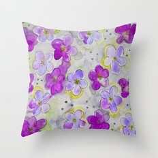 Radiant Orchid Print Throw Pillow