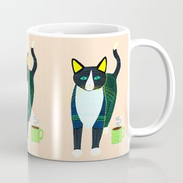 Graham the Cat with His Morning Coffee Coffee Mug