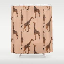 Giraffe neutral pattern Shower Curtain
